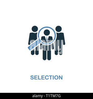 Selection creative icon. Simple illustration. Selection icon from human resources collection. Two colors element for web, apps, software, print. - Stock Photo