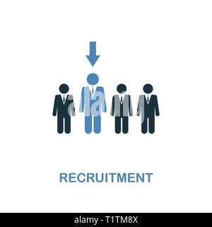 Recruitment creative icon. Simple illustration. Recruitment icon from human resources collection. Two colors element for web, apps, software, print. - Stock Photo