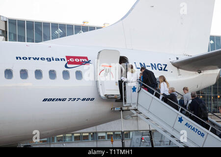 Norwegain airlines. - Stock Photo