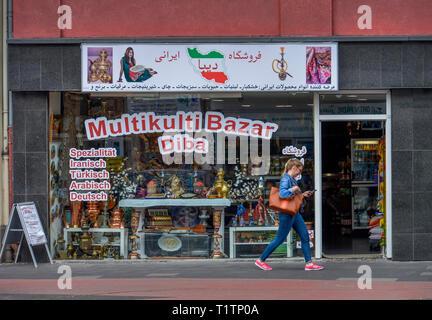 Multikulti-Bazar, Neusser Strasse, Nippes, Koeln, Nordrhein-Westfalen, Deutschland - Stock Photo