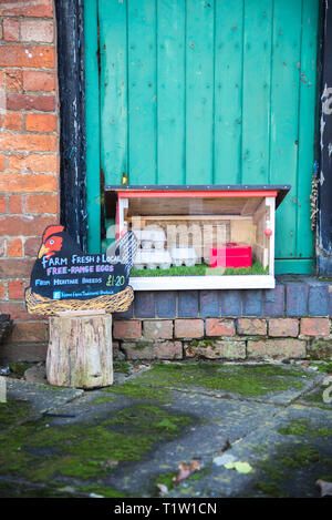 Farm gate eggs for sale Leicestershire - Stock Photo