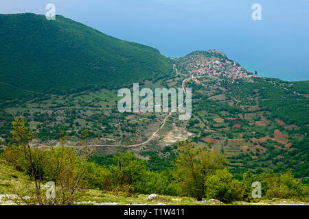 View to Trpeica, Nationalpark Galicica, Lake Ohrid, Macedonia - Stock Photo
