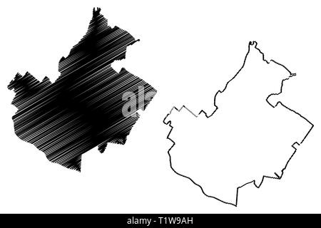 Irvine City (United States cities, United States of America, usa city) map vector illustration, scribble sketch City of Irvine map - Stock Photo