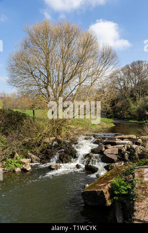 The river Sid at Fortescue, on the outskirts of Sidmouth, Devon, UK - Stock Photo