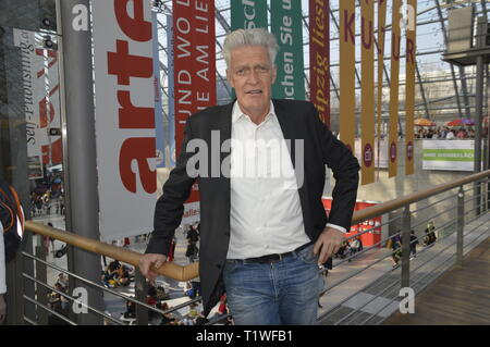 Leipzig Germany, march 23, 2019: MAX MOOR at the Book  Fair - Stock Photo