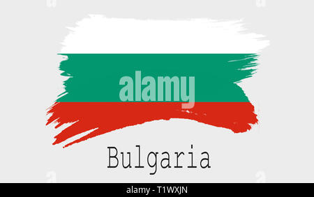 Bulgaria flag on white background, 3d rendering - Stock Photo