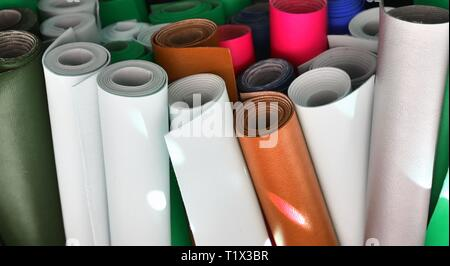 Close up surface of beautiful textile fabrics in high resolution - Stock Photo