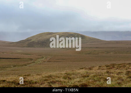County Mayo Landscape - bog land in the west of Ireland near Ballycroy. - Stock Photo
