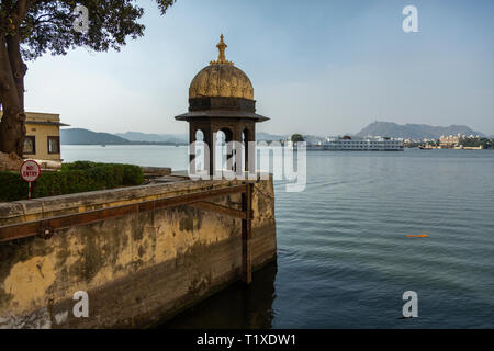 lake view from City Palace,,Udaipur,Rajasthan,India,Asia - Stock Photo