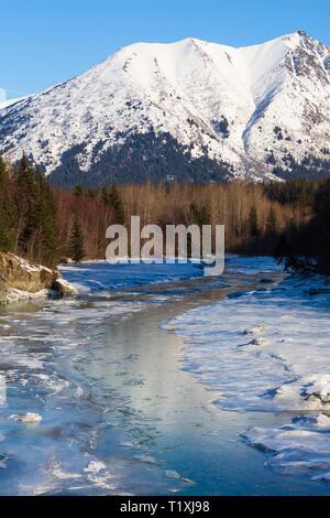 Portage Creek, Portage Glacier Highway, Alaska - Stock Photo