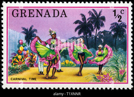 Postage stamp from Grenada in the Tourism series issued in 1976 - Stock Photo