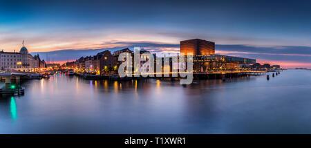 Evening view of central Copenhagen, Denmark - Stock Photo