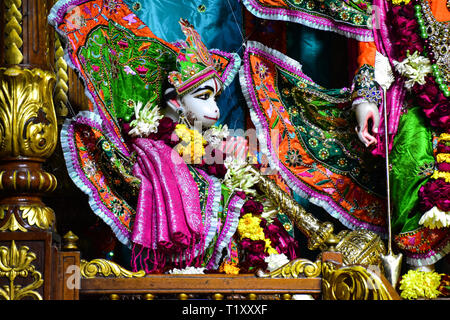 ISKCON Temple, Hare Krishna Hills,  Delhi, India - Stock Photo