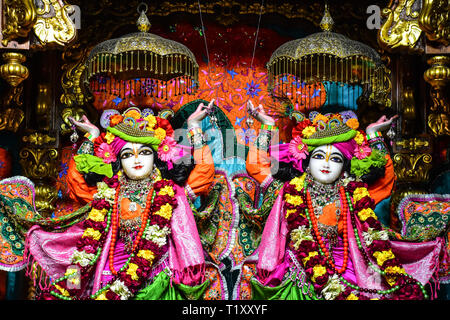 ISKCON Temple, Hare Krishna Hills,  Delhi, India - Stock Photo