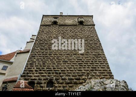 top of the bran castle ( Dracula s castel) in Brasov, Transylvania. Romania. - Stock Photo