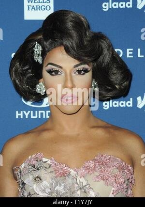 Beverly Hills, CA. 28th Mar, 2019. Shangela at arrivals for 30th Annual GLAAD Media Awards, The Beverly Hilton, Beverly Hills, CA March 28, 2019. Credit: Elizabeth Goodenough/Everett Collection/Alamy Live News - Stock Photo