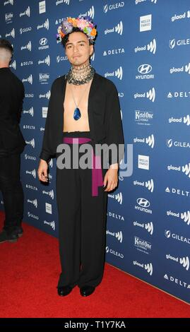 Beverly Hills, CA. 28th Mar, 2019. Tonatiuh at arrivals for 30th Annual GLAAD Media Awards, The Beverly Hilton, Beverly Hills, CA March 28, 2019. Credit: Elizabeth Goodenough/Everett Collection/Alamy Live News - Stock Photo