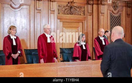 29 March 2019, Saxony, Leipzig: The presiding judge