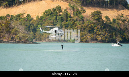 LANGKAWI, MALAYSIA : MARCH 28, 2019 : Naval commando units perform at the LIMA exhibition Credit: Chung Jin Mac/Alamy Live News - Stock Photo