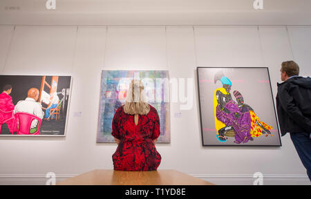 Sotheby's London, UK. 29 March, 2019. Pre-sale exhibition of Modern and Contemporary African Art, showing the work of artists from across the African diaspora. Credit: Malcolm Park/Alamy Live News. - Stock Photo