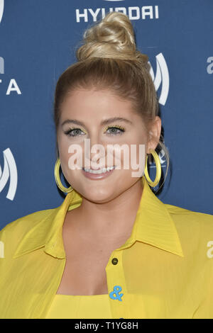 Beverly Hills, California, USA. 28th Mar 2019. Meghan Trainor at the 30th Annual GLAAD Media Awards held at the Beverly Hilton Hotel in Beverly Hills, CA on Thursday, March 28, 2019. Photo by PRPP/PictureLux Credit: PictureLux/The Hollywood Archive/Alamy Live News - Stock Photo