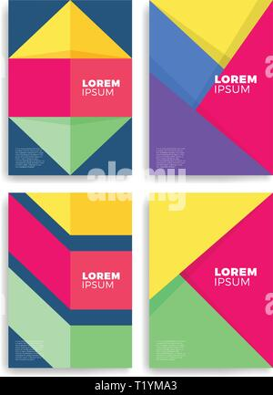 Geometric cover design. A4 format template for brochure,poster,flyer etc. - Stock Photo
