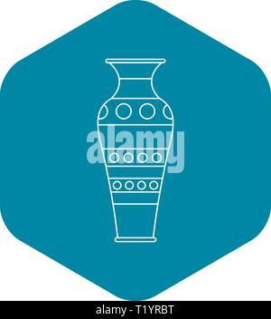 Vase icon, outline style - Stock Photo