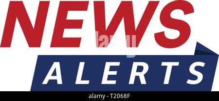 News alerts, breaking news logo, tv design element, report