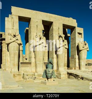 Ägypten, Luxor, Theben-West, Ramesseum - der Totentempel Ramses II.