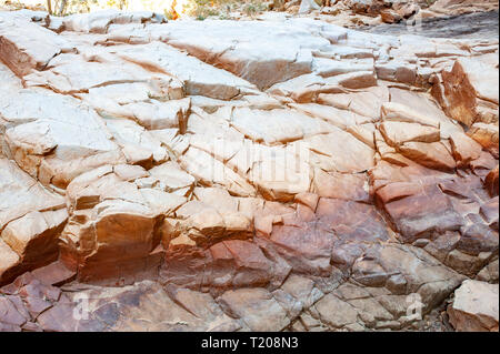 Coloured rock in Redbank Gorge, Northern Territory, Australia - Stock Photo