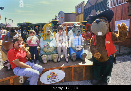 Frontierland Western Theme Park, Morecambe, Lancashire, England, UK. Circa 1980's - Stock Photo