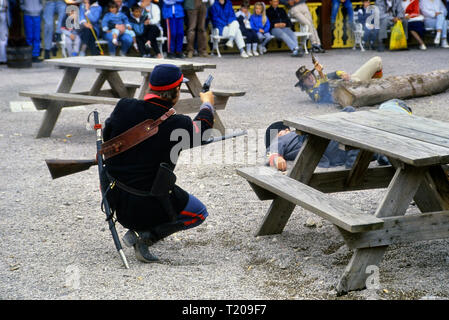 Frontierland Western Theme Park, Morecambe, Lancashire, England, UK. Circa 1980's - Stock Photo