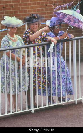 Ladies day at Royal Ascot, Berkshire, England, UK - Stock Photo