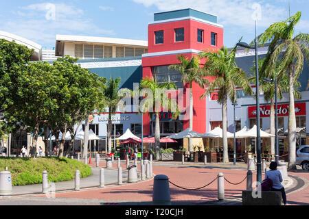 Fast food restaurants at entrance to Gateway Theatre of Shopping, Palm Boulevard, Umhlanga Ridge, Umhlanga, KwaZulu-Natal, South Africa - Stock Photo