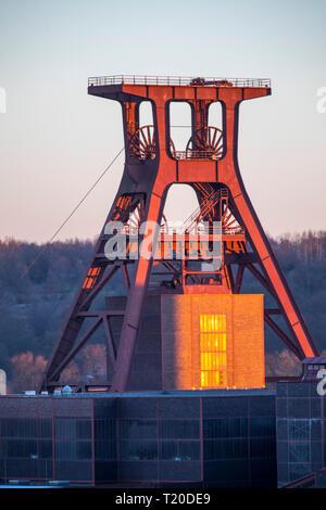 World Heritage Zollverein Coal Mine in Essen, Doppelbock Scaffold Shaft 12, Germany - Stock Photo