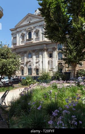 ROME, ITALY - JUNE 23, 2017: Amazing view of Basilica San Carlo ai Catinari in Rome, Italy - Stock Photo