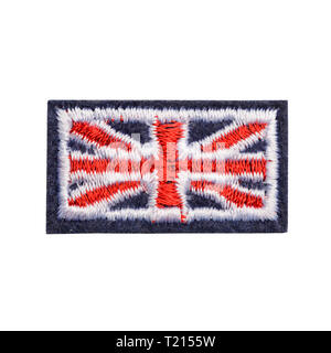 Great Britain flag fabric patch - Stock Photo