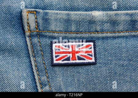 Great Britain flag embroidered patch - Stock Photo