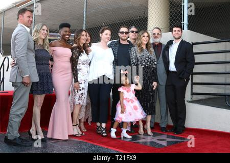 Los Angeles, CA, USA. 29th Mar, 2019. LOS ANGELES - MAR 29: Rita Wilson, family at the Rita Wilson Star Ceremony on the Hollywood Walk of Fame on March 29, 2019 in Los Angeles, CA at the induction ceremony for Star on the Hollywood Walk of Fame for Rita Wilson, Hollywood Boulevard, Los Angeles, CA March 29, 2019. Credit: Priscilla Grant/Everett Collection/Alamy Live News - Stock Photo