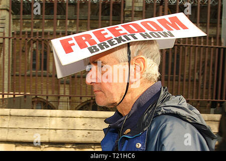 London, UK. 29th Mar, 2019. Leave Means Leave Brexit Campaign holds rally in Westminster London UK on the 29th March 2019, which is the date the UK was supposed to leave the EU. Credit: Rupert Rivett/Alamy Live News - Stock Photo