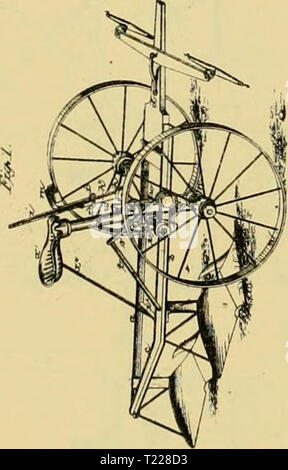 Archive image from page 897 of Digest of agricultural implements, patented Digest of agricultural implements, patented in the United States from A.D. 1789 to July 1881 ..  digestofagricult02alle Year: 1886  2 Sheets-Sheet 1. I. CBiPHiM. OAHQ-PLOW. So. 185.493. P.te.t.d Dec 19, ie76. JSheets-Sheeta. Fitented Sec. 19. 137E.    /r. l.ouijtr,<Ae.Uo  - Stock Photo