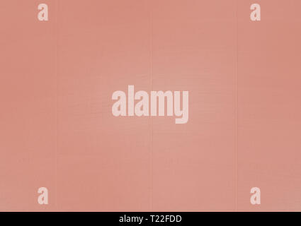 Whitewashed wood background texture copy space toned in trend color Living Coral. - Stock Photo