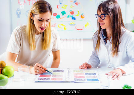 Nutritionist with female patient. - Stock Photo
