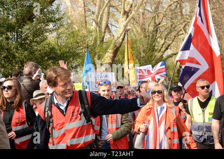 Leave Means Leave Rally on the day the UK was supposed to leave the EU - 29th March 2019 - Stock Photo