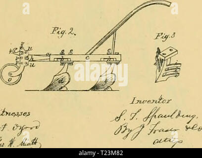 Archive image from page 110 of Digest of agricultural implements, patented Digest of agricultural implements, patented in the United States from A.D. 1789 to July 1881 ..  digestofagricult02alle Year: 1886 - Stock Photo
