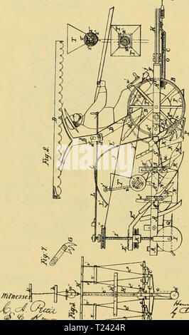 Archive image from page 533 of Digest of agricultural implements, patented Digest of agricultural implements, patented in the United States from A.D. 1789 to July 1881 ..  digestofagricult02alle Year: 1886  J-f. Comrif. jlcriculti:rai LadziKi.    N. Comnp-, - Stock Photo
