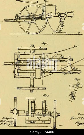 Archive image from page 755 of Digest of agricultural implements, patented Digest of agricultural implements, patented in the United States from A.D. 1789 to July 1881 ..  digestofagricult02alle Year: 1886 - Stock Photo