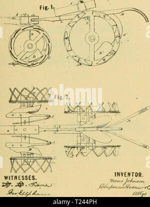 Archive image from page 224 of Digest of agricultural implements, patented - Stock Photo