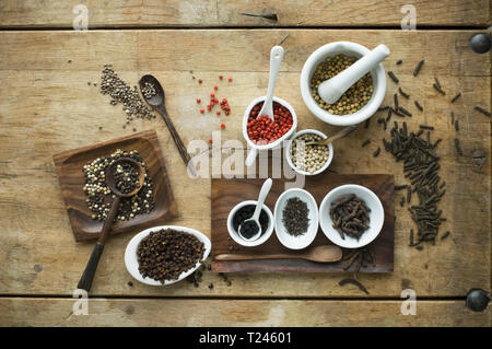 Various sorts of pepper - Stock Photo