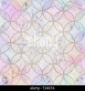 Seamless luxury circles pattern texture, wallpaper texture colors - Stock Photo